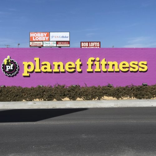 Planet Fitness Channel Letters